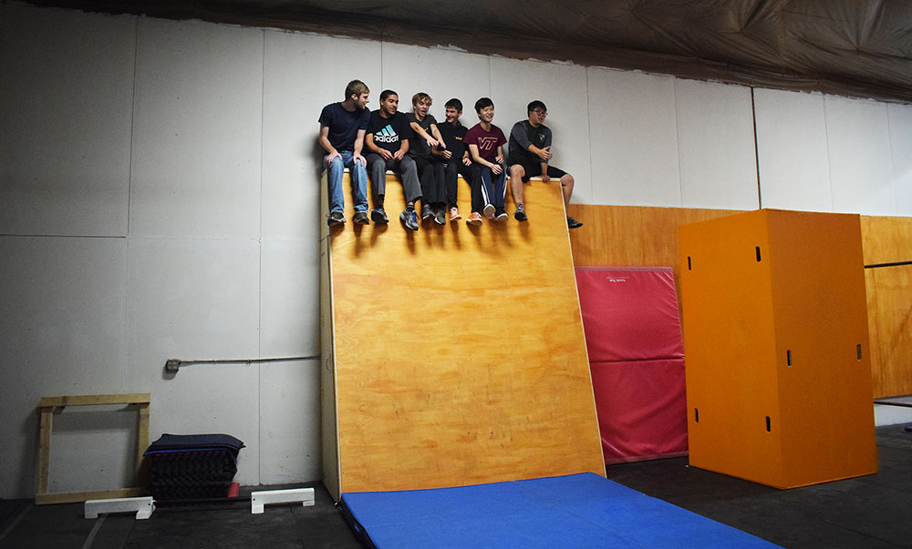 smaller - Group on the slant wall