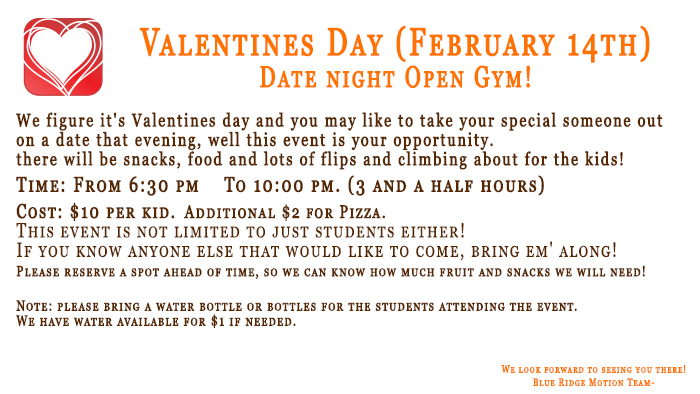 eadc37bf58e Date Night open Gym! - Blue Ridge Motion