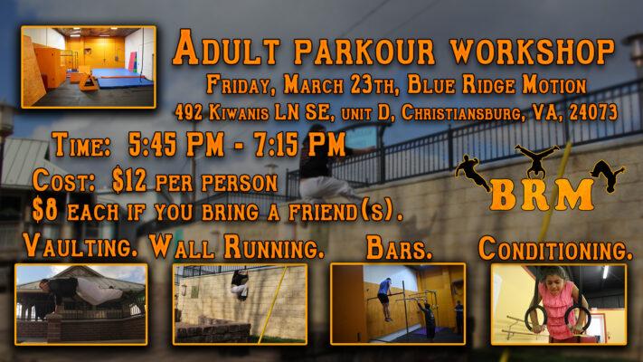 Adult Parkour Workshop!