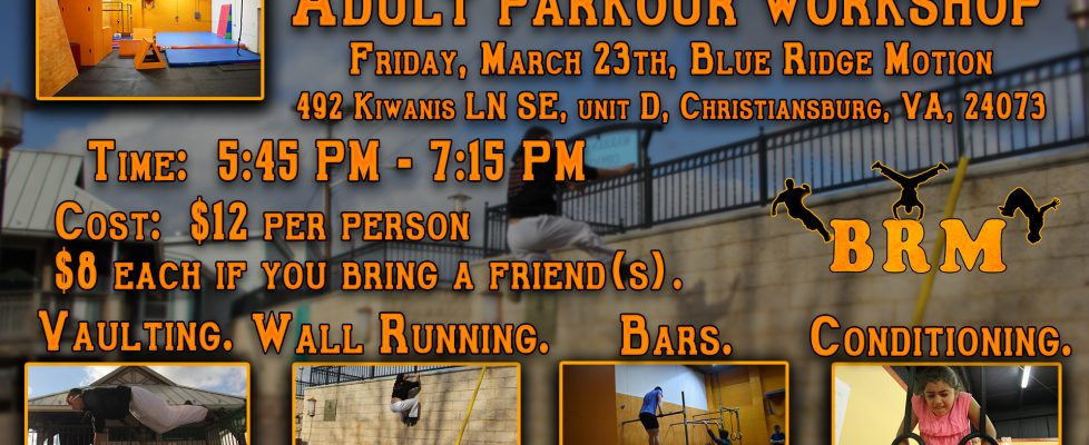 Adult Parkour Workshop!