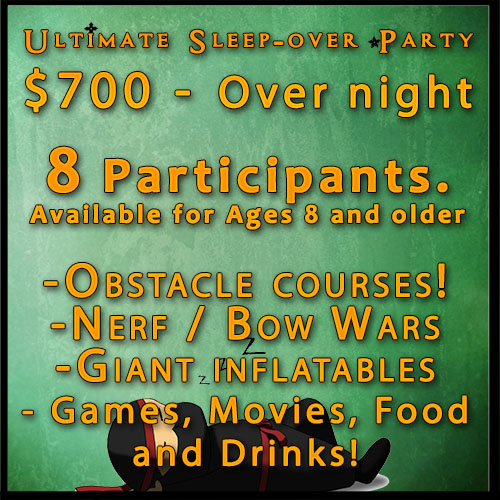 Over Night Birthday Party website Square